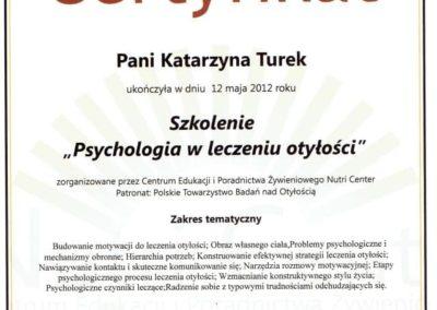 Katarzyna Turek psychologia w leczeniu otyłości