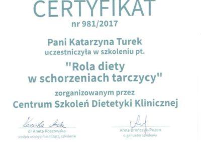 Katarzyna Turek Rola Diety w Schorzeniach Tarczycy