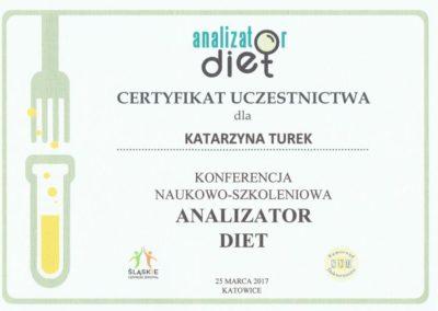 Katarzyna Turek - slaskie centrum zdrowia analizator diet