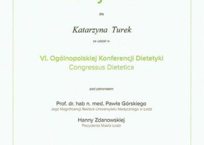 Katarzyna Turek congressus dietetica 2016