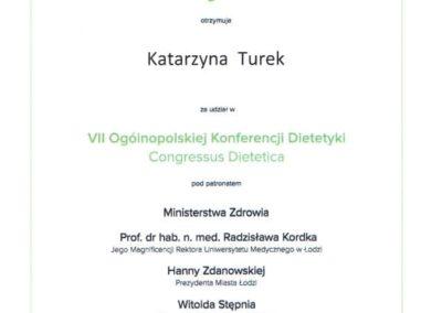 Katarzyna Turek congressus dietetica 2017