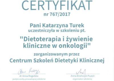 Katarzyna Turek dietoterapia i żywienie kliniczne w onkologii