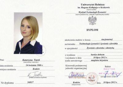 dyplom Katarzyna Turek